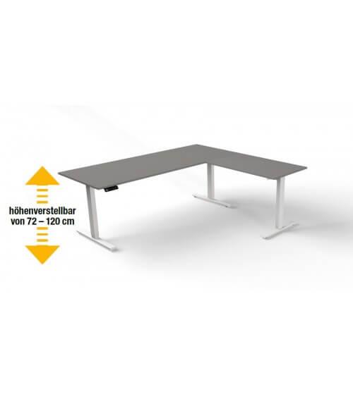 Elektromotorischer Steh-Sitztisch Move.3 mit Anbau