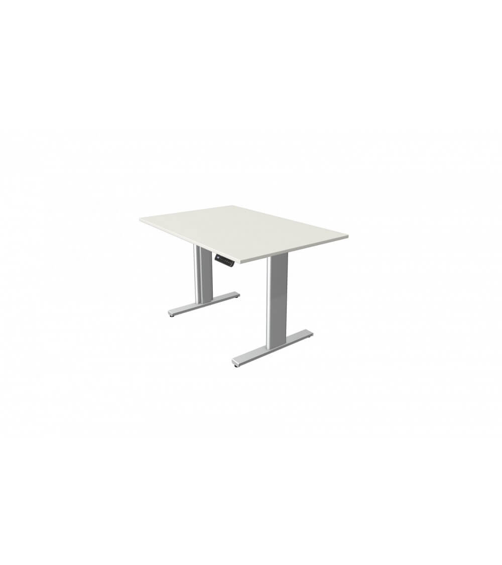 Elektromotorischer Steh-Sitztisch Move.3 (Gestell silber)