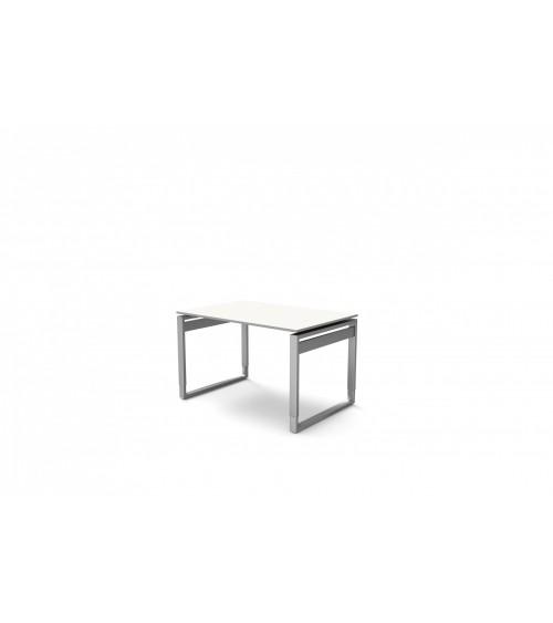 Schreibtisch StageOne Form 5 mit Bügelgestell, rechteckig