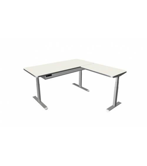 Elektromotorischer Steh-Sitztisch Move.4 Premium mit Anbau