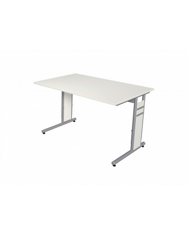 Schreibtisch StageOne Form 4, C-Fuß-Gestell, rechteckig