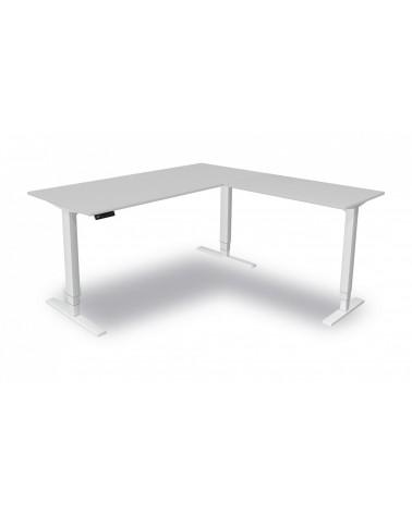 Elektromotorischer Steh-Sitztisch Move.4 mit Anbau